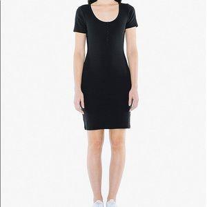 American Apparel Cotton Henley Bodycon Dress
